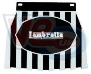 Lambretta Black And White Striped Mudflap