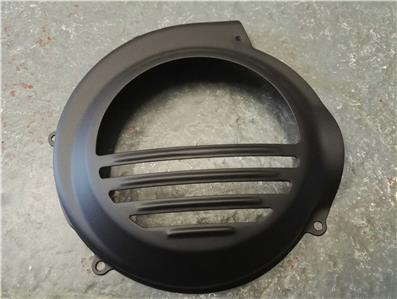 Black Flywheel Cover Vespa PX Non Electric Start Only.