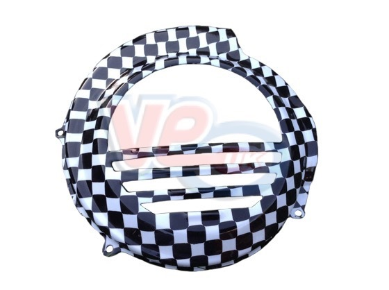 Chequered Flywheel Cover For Vespa PX NON Electric Start