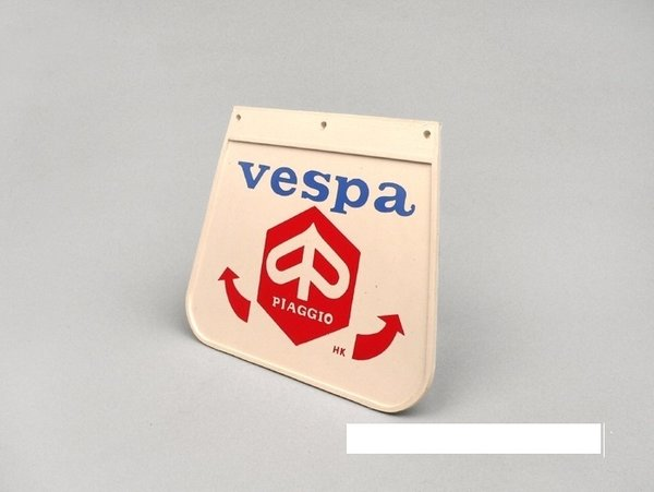 Retro Styled Red And Blue Vespa MudFlap
