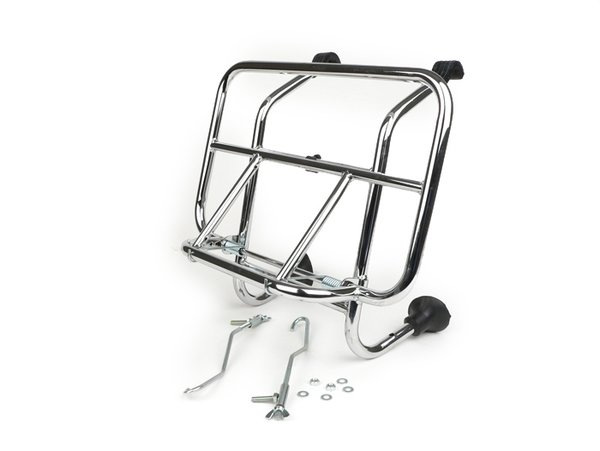Chrome Front Carrier Luggage Rack Vespa / LML / Lambretta