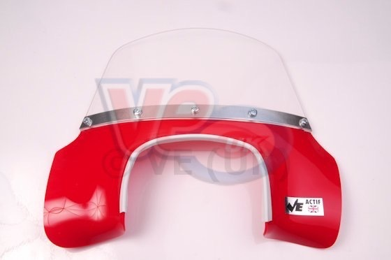 VE Actif Solid Red Flyscreen For Lambretta GP