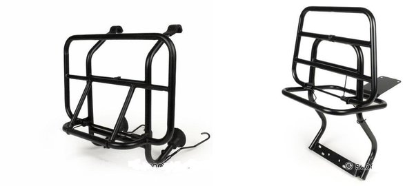 Black Front And Rear Racks For Vespa PX/LML 2T