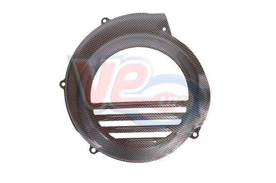 Carbon Effect Flywheel Cover For Vespa PX NON Electric Start